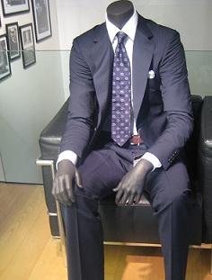 El hombre del traje azul